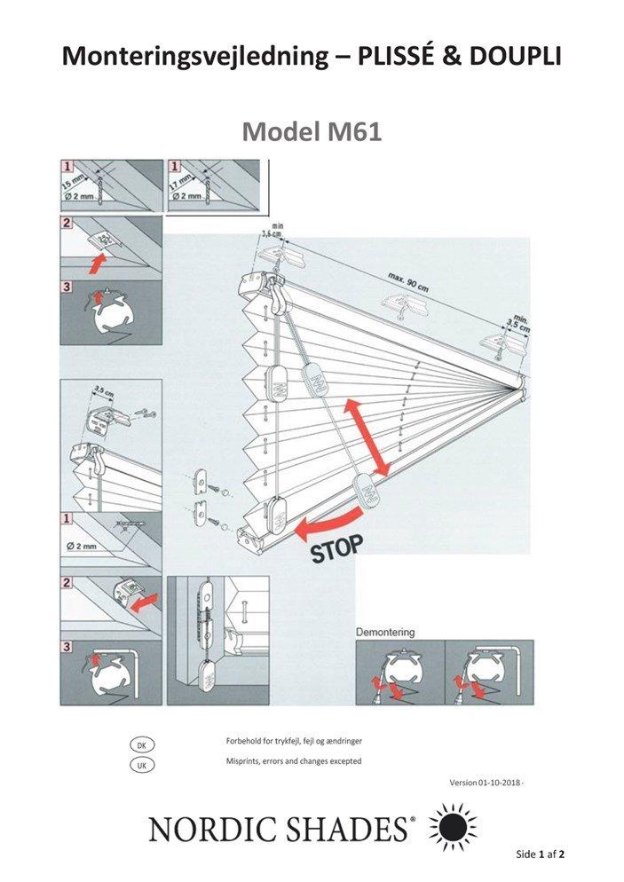 NS - Monteringsvejledning - M61