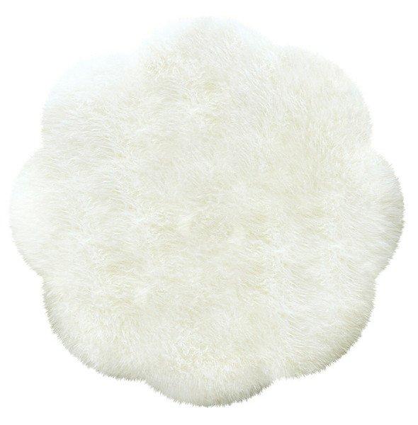 Australsk lammeskindstæppe - White - Oeko-Tex