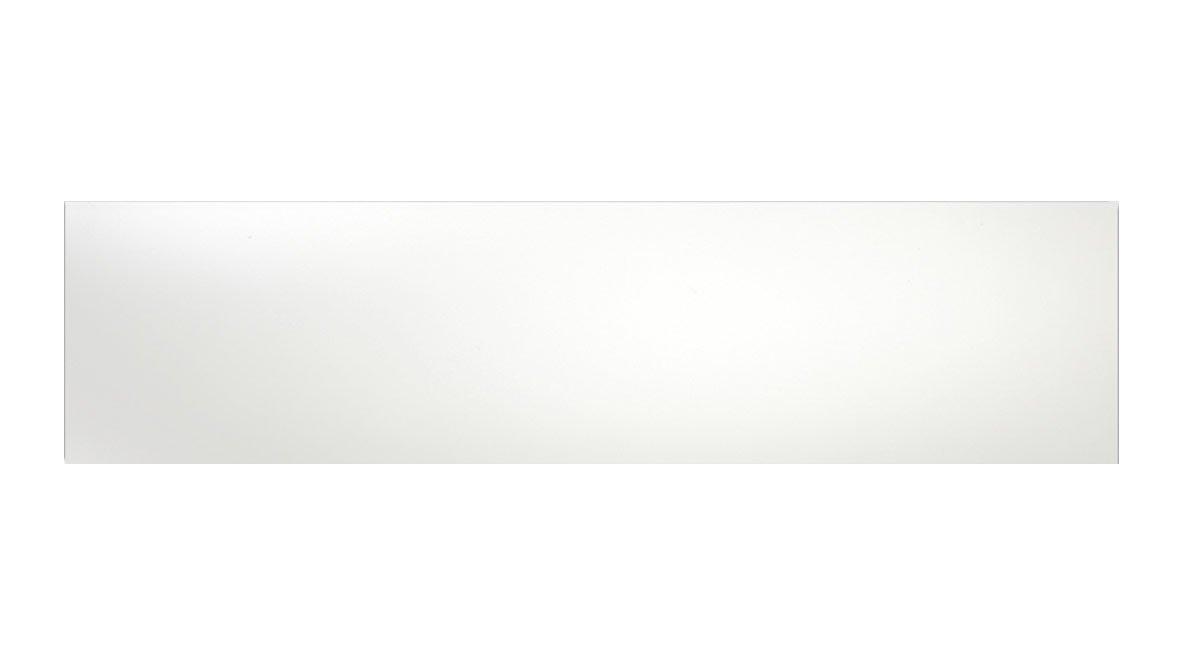 Hvid vægflise blank