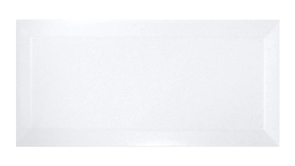 Metro hvid blank vægflise