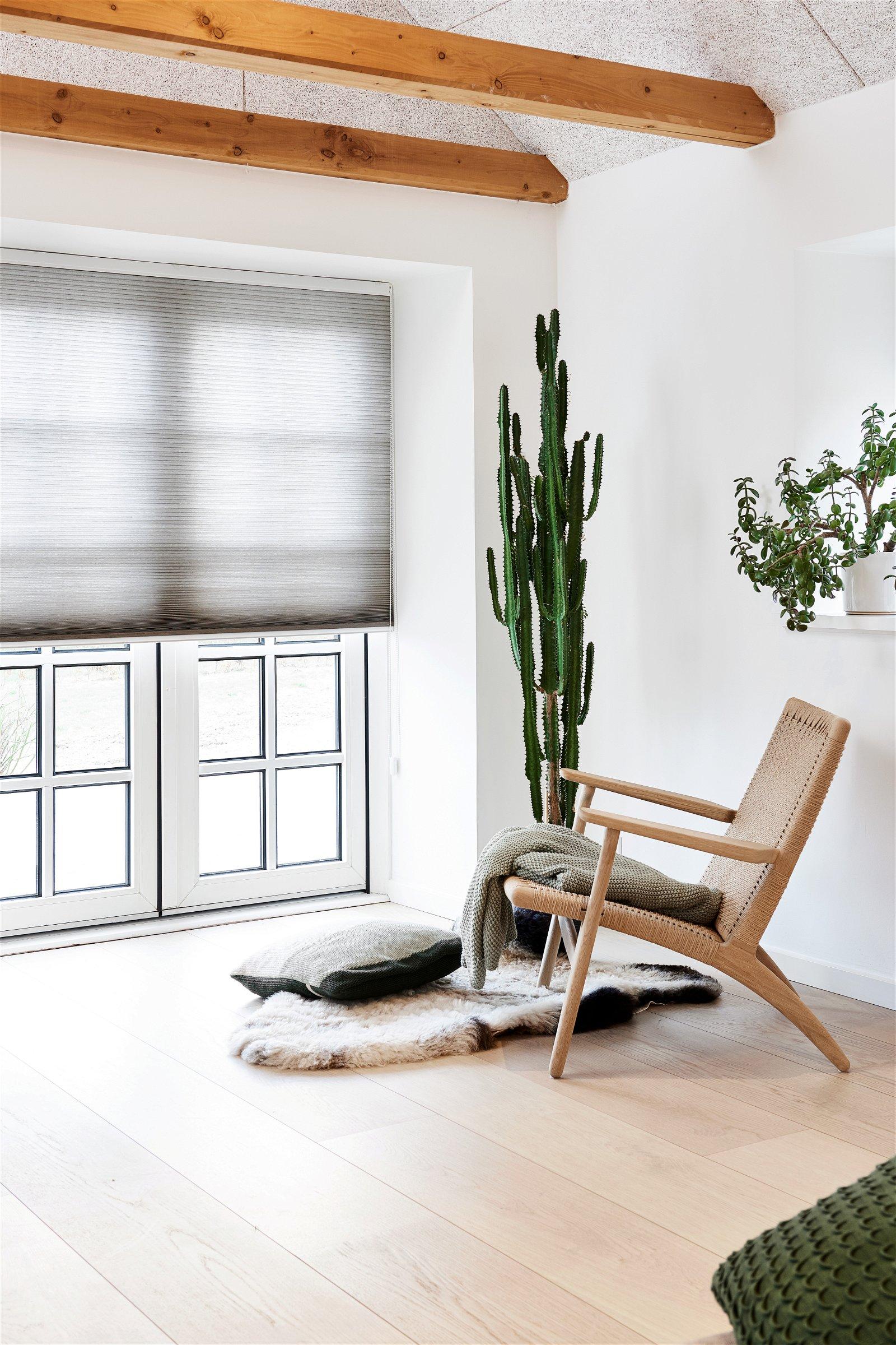 Nordic Shades® Dobbelt plisségardin m. Kædetræk